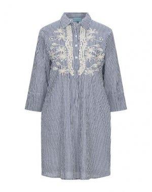 Короткое платье ICONIQUE. Цвет: синий