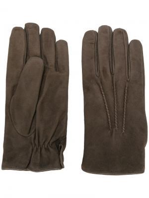 Большие перчатки Eleventy. Цвет: коричневый