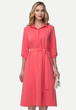 Платье La Vida Rica. Цвет: коралловый