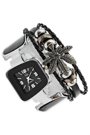 Часы наручные Taya. Цвет: серебристый, черный