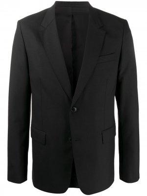 Однобортный пиджак с декоративной строчкой AMI Paris. Цвет: черный