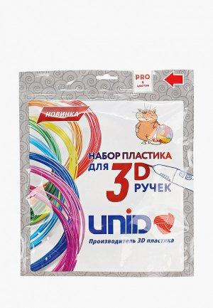 Набор для творчества Unid пластика 3D ручек PRO-6, 6 цветов по 10м.. Цвет: разноцветный