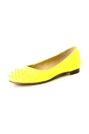 Балетки Calipso. Цвет: желтый