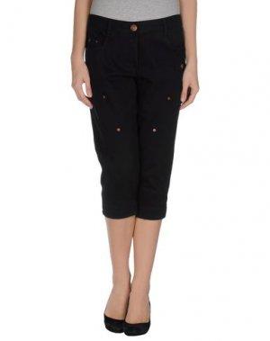 Джинсовые брюки-капри GAETANO NAVARRA. Цвет: черный