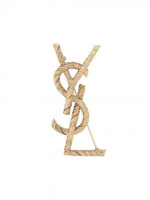 Opyum rope brooch Saint Laurent. Цвет: золотистый