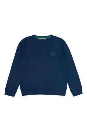 Хлопковый пуловер Bonpoint. Цвет: синий