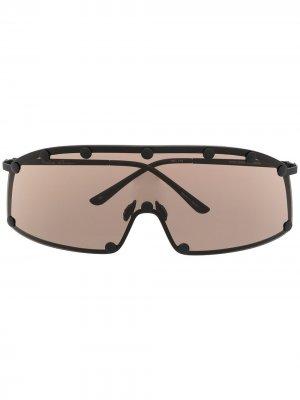 Солнцезащитные очки Shield Rick Owens. Цвет: черный