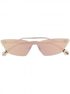 Солнцезащитные очки Metal Mask Off-White. Цвет: золотистый