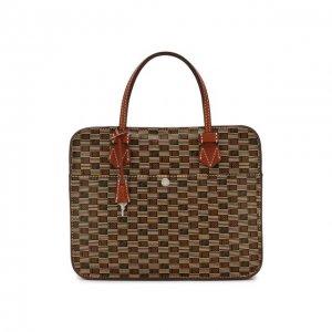 Кожаная сумка для ноутбука Moreau. Цвет: коричневый