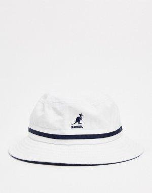 Белая панама с полоской -Белый Kangol