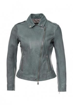 Куртка кожаная Arma AR020EWQOF31. Цвет: синий