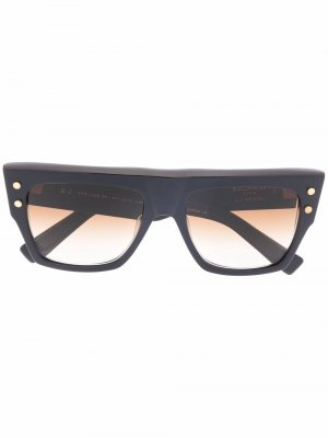 Солнцезащитные очки B-l в массивной оправе Balmain Eyewear. Цвет: синий
