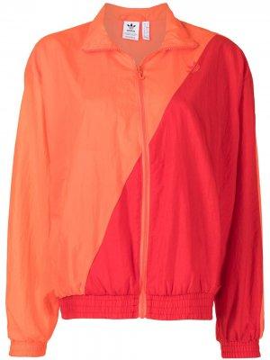 Спортивный топ Japona adidas. Цвет: оранжевый