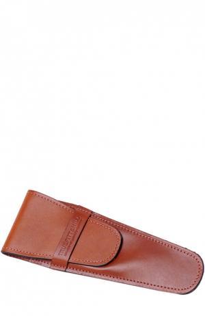 Кожаный чехол для бритвы коричневый Truefitt&Hill. Цвет: коричневый