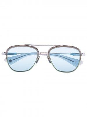 Солнцезащитные очки Rikton в квадратной оправе Dita Eyewear. Цвет: серый
