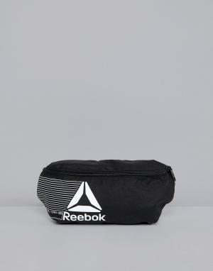 Черная сумка-кошелек на пояс Training DN1524 Reebok. Цвет: черный