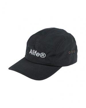 Головной убор ALIFE. Цвет: черный
