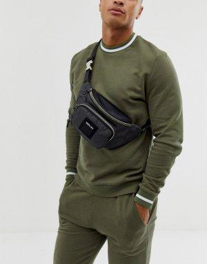 Темно-серая сумка-кошелек на пояс с логотипом -Серый Replay