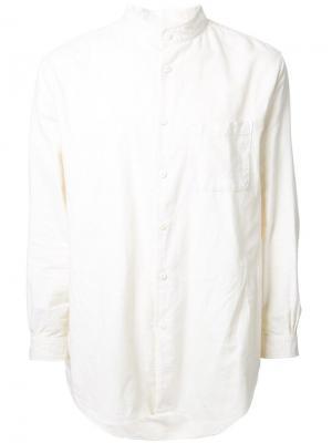 Фланелевая рубашка с воротником-стойкой Gold. Цвет: белый