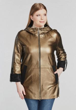 Куртка кожаная Mondial. Цвет: золотой