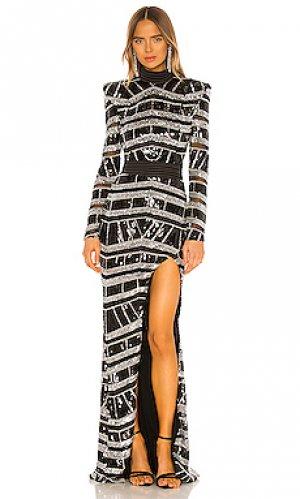 Вечернее платье illume Zhivago. Цвет: черный