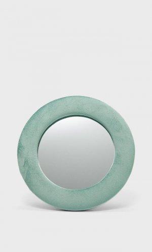 Зеркало В Обтянутой Бархатом Рамке Женская Коллекция Зеленый 103 Stradivarius. Цвет: зеленый