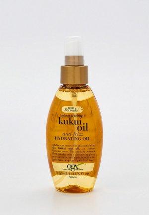Масло для волос Ogx увлажнения и гладкости с маслом гавайского ореха (кукуи), 118 мл. Цвет: прозрачный