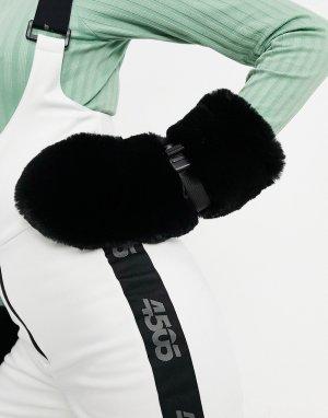 Варежки из искусственного меха ski-Черный ASOS 4505
