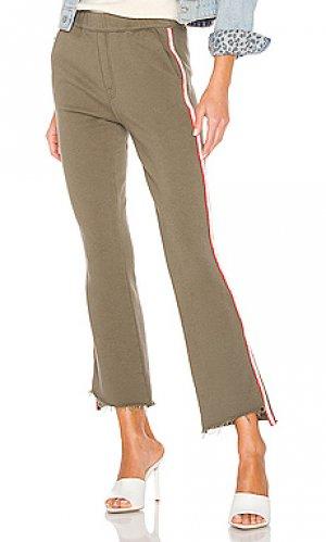 Спортивные брюки lounger MOTHER. Цвет: оливковый