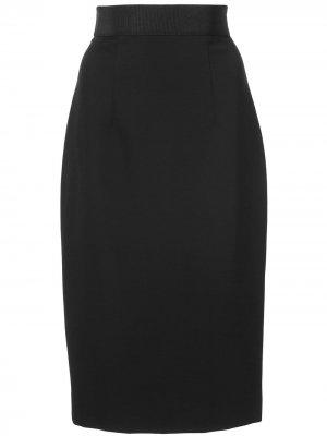 Классическая юбка-карандаш Milly. Цвет: черный