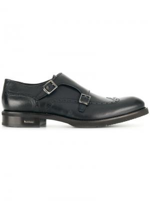 Классические туфли-монки Baldinini. Цвет: синий
