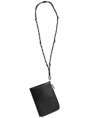 Кошелек Tangle со шнурком Jil Sander. Цвет: черный