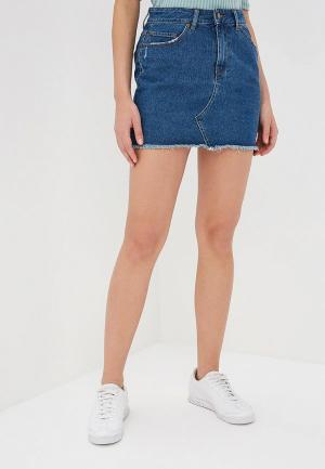 Юбка джинсовая Roxy. Цвет: синий