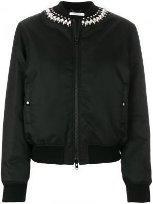 Куртка-бомбер с отделкой Givenchy. Цвет: черный