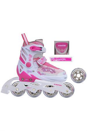 Коньки роликовые X-Match. Цвет: розовый