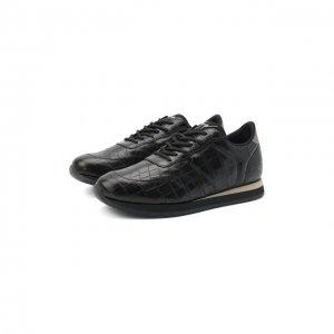 Кожаные кроссовки Jimi Running Giuseppe Zanotti Design. Цвет: чёрный