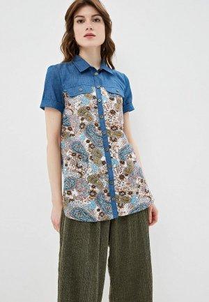 Рубашка Очаровательная Адель. Цвет: серый
