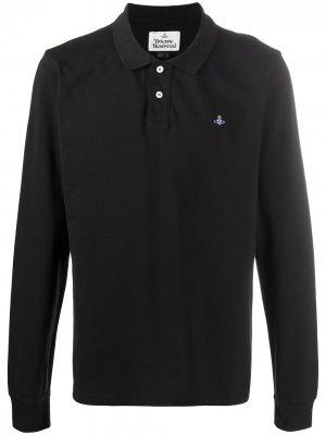 Рубашка поло с вышитым логотипом Vivienne Westwood. Цвет: черный