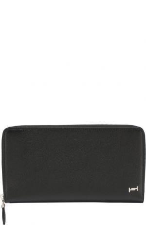 Кожаное портмоне на молнии Tod's. Цвет: чёрный