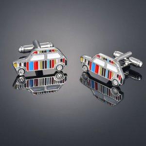 2шт Мужские запонки в форме автомобиля SHEIN. Цвет: многоцветный