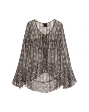 Pубашка ANNA SUI. Цвет: серый