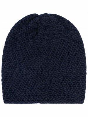 Chunky-knit wool beanie Little Bear. Цвет: синий