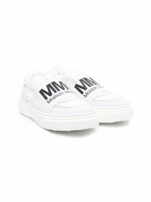 Logo-print low top sneakers MM6 KIDS. Цвет: белый