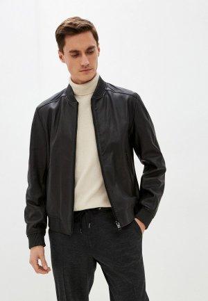 Куртка кожаная Boss Malban. Цвет: черный