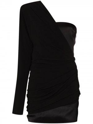 Платье мини Saratov на одно плечо GAUGE81. Цвет: черный
