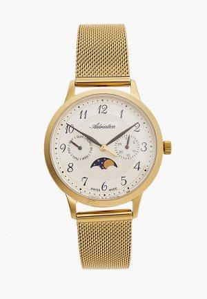 Часы Adriatica. Цвет: золотой