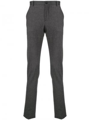Классические строгие брюки Etro. Цвет: серый