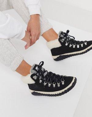 Черные походные ботинки с подкладкой из искусственного меха Out n About-Черный Sorel