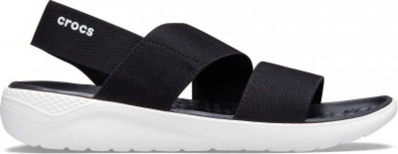 Сандалии женские LiteRide Stretch Sandal W, размер 35 Crocs. Цвет: черный