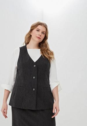 Жилет Авантюра Plus Size Fashion. Цвет: серый